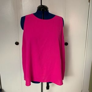 Pink fly open back tank top